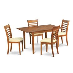 Small Dining Room Table Set Lovely Shop 5 Piece Small Table and 4 Dining Room Chairs Free Small Kitchen Table Sets, 5 Piece Dining Set, Small Dining, Dining Room Sets, Small Tables, Dining Room Chairs, Dining Table, Black Dining Room Furniture, Leather Chair With Ottoman