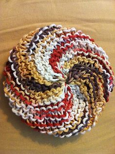 Knit Circle Scrubbie  .. August 2011