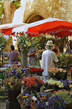 Flower stall at the market, Aix-en-Provence, Provence, France, Europe La Provence France, Aix En Provence, Life Is Beautiful, Beautiful Places, Italian Summer, French Countryside, Flower Market, Stock Photos, Marketing