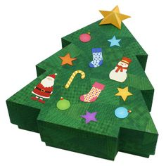 This printable, foldable box shaped like a Christmas tree and makes a perfect gift box. Decorate it any way you like and send it to someone special! Wrap it in wrapping tissue? Send it with a greeting card? What else can you think of? Adding that extra touch will make it even more special!