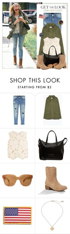 """""""The easiest Diane Kruger """"get the look"""" style EVER"""" by lsamsam ❤ liked on Polyvore featuring Zara, Marni, Marc by Marc Jacobs, Oliver Peoples, UGG Australia, Harley-Davidson and Michael Kors"""