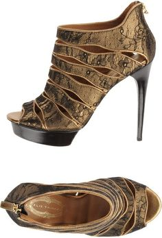 * Shoes Shoes Shoes ! / Elie Tahari Platform Sandals in Gold (black)  Lyst |Black Heels|