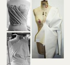 Draping and Moulage   The Cutting Class. Details of draping and moulage found on Pinterest, image 2.