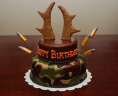 Hunting birthday cake... This will be Dan's next birthday cake! Or maybe Wyatt's.... heck, we may have it more than once!