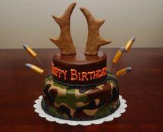 Hunting birthday cake - perfect for the hubby! Camo Cakes, Deer Cakes, Cupcakes, Cake Cookies, Cupcake Cakes, Hunting Birthday Cakes, Hunting Cakes, Camo Birthday, Husband Birthday Cake