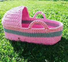 crochet doll cradle, doll bed, doll basket, handmade cradle. crib for doll, toy cradle, furniture for dolls, doll bedding, doll accesories
