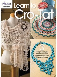 Back by popular demand, the Cro-Tat technique hook and instruction book! The package includes 1 size 6 Cro-Tat hook, how-to instructions including color photos, plus 3 brand-new projects all made usin