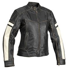 Special Offers - River Road Dame Womens Vintage Leather Cruiser Motorcycle Jacket  Black / Large - In stock & Free Shipping. You can save more money! Check It (August 08 2016 at 10:38PM) >> http://motorcyclejacketusa.net/river-road-dame-womens-vintage-leather-cruiser-motorcycle-jacket-black-large/