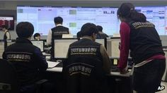epic - Employees of Korea Internet Security Center work after computer networks at two major South Korean banks and three top TV broadcasters went into shutdown mode en masse, at a monitoring room in Seoul, South Korea, Wednesday, March 20, 2013.