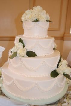 Tier Wedding Cakes With Pillars Tier Wedding Cake By Roly S