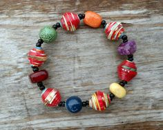 Lucky Charms Cereal Box Bead Bracelet by DescendingDoveDesign, $29.00
