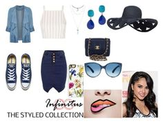 """She in"" by teamsparkles on Polyvore featuring Topshop, Evans, Converse, Kenneth Jay Lane, Trelise Cooper and Chanel"