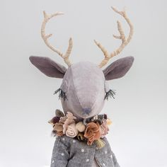 Wishing a lovely day to everyone • • • • • #lenabekh #handmadetoy #handmade #handmadedoll #softie #softtoy #textiledoll #heirloomdoll #clothdoll #kidsroomdecor #dollmaker #babyshowerdecor #instatoys #babyroom #fantasyart #handmadegifts #reindeer #deerdoll #caribou #antlers #deer #woodlandcreatures #intothewild #ohdeer #flowercrown #fabricflower #anthropomorphic #softsculpture