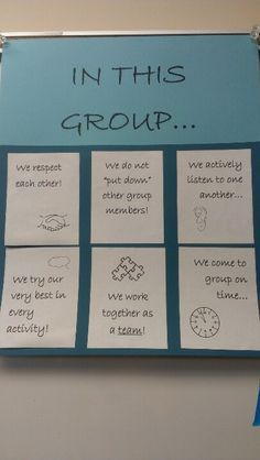 My first attempt at group expectations poster. Inspired by classroom norms poster pinterest.com/pin/242138917436008043