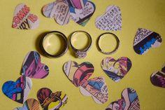 #Wedding #Offbeat Comic Heart Confetti