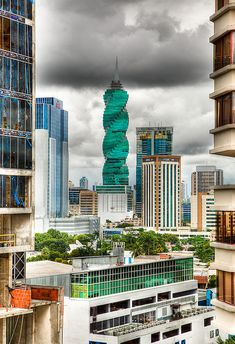 Modern architecture in Panama City- The Revolution Tower