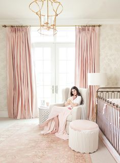 pink peonies nursery reveal my home pinterest nursery and