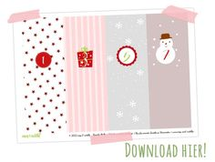Adventskalender Printable (freebie)