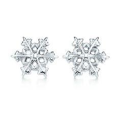 Tiffany & Co Silver Snowflake Earrings