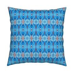 Catalan Throw Pillow featuring KRLGFabricPattern_76C10LARGE by karenspix   Roostery Home Decor