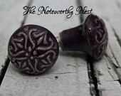 Purple Knobs // Decorative knobs // drawer pulls // dresser knob // cabinet knob // unique knobs // plum knobs