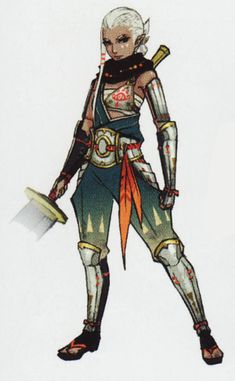 "The Legend of Zelda series and Hyrule Warriors, Impa / ""Impa's set of traditional art from the Hyrule Warriors artbook. I am currently working on getting the HW stuff ready for the gallery. Until then, enjoy!"" -Melora, HistoryofHyrule.com"