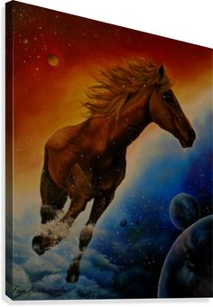 Dream Dancer Canvas Print / Canvas Art by Faye Anastasopoulou Horse Oil Painting, Action Painting, Canvas Art, Canvas Prints, Painting Canvas, Fine Art Posters, Art For Sale Online, Horse Portrait, Animal Paintings