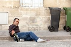 Picture of drunk man lying on city street near trashcan stock photo, images and stock photography. Men Lie, Owl Eyes, Stand Tall, City Streets, How To Fall Asleep, Stock Photos, Image, Gatsby, Guy