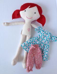 Fabric Cloth Doll Plush Doll Rag Doll  Sienna by LittleLuckies2, $45.00