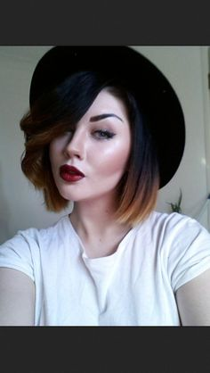 love an ombre with dark/black roots (goal)