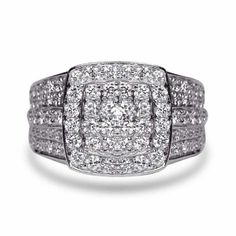 Engagement Rings for women Round Diamond Split Shank Style carat tw White Gold – GIA Certificate (Ring Size – Fine Jewelry & Collectibles Half Eternity Ring, Eternity Ring Diamond, 2 Carat Diamond Ring, Diamond Rings, Natural Diamonds, Round Diamonds, Quality Diamonds, Silver Rounds, Band Rings