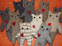 Ten little kitty ornaments, by Art Spirit @Rebel Medley Just about covers them all doesn't it?