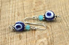 Mini Earrings with Glass Beads $25