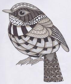 Ronelles Birdtangle (memyni) Tags: blackandwhite bird lines doodle pendrawing zentangle doodledrawing Doodle Art Drawing, Zentangle Drawings, Easy Zentangle, Zentangles, Art Drawings Sketches Simple, Bird Drawings, Bird Doodle, Doodle Girl, Doodle Art