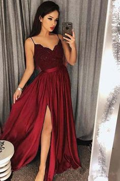 V Neck Prom Dress, Prom Dress Ball Gown, Lace Prom Dress, Bridesmaid Dresses Prom Dress V-neck Bridesmaid Dresses 2018 Outlet Feminine 2019 Bridesmaid Dresses Spaghetti Strap Prom Dresses Long Lace V Neck Maxi High Split Evening Ball Gowns 2019 Split Prom Dresses, Straps Prom Dresses, V Neck Prom Dresses, Prom Dresses 2018, Lace Bridesmaid Dresses, Lace Dresses, Dress Lace, Dress Prom, Dress Formal