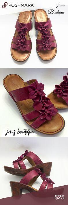• Born Elastic Gore Sandals • Embellished Born Elastic Gore Sandals | EUC | Leather Upper | Platform Sole b.o.c. Shoes Sandals