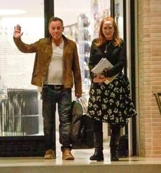 Bruce Springsteen and his wife Patti Scialfa shop at Barney's New York in Beverly Hills, California on December 8, 2016. The two appeared to be in a great mood while they walked to their car. Source: FameFlynet Pictures