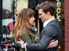 """9 Sex Scenes That Probably Won't Make the Cut in a """"Tamer"""" Fifty Shades of Grey Movie Jamie Dornan, Dakota Johnson, Fifty Shades Of Grey Set Shades Of Grey Movie, Fifty Shades Movie, Fifty Shades Trilogy, Fifty Shades Of Grey, Fifty Shades Trailer, Celebrity Gossip, Celebrity News, Movie Trivia Questions, 50 Shades Freed"""