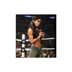 AJ Lee Paige unite in a war of words with Nikki Brie Bella photos ❤ liked on Polyvore featuring aj lee