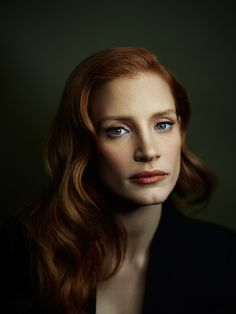 Portrait of Jessica Chastain. She's so beautiful.
