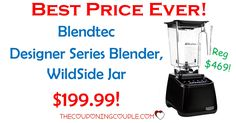 DON'T MISS THIS! The BEST PRICE EVER on a Blendtec Blender! Only $199.99 shipped! (reg $469!) This may not last long so go now!  Click the link below to get all of the details ► http://www.thecouponingcouple.com/blendtec-blender/ #Coupons #Couponing #CouponCommunity  Visit us at http://www.thecouponingcouple.com for more great posts!