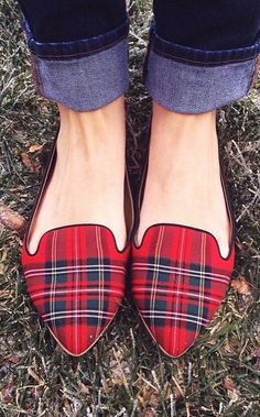Plaid loafers.