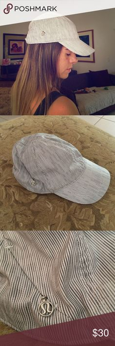 LULULEMON HAT Beautiful and casual, straight gray lines. Used but in great condition! lululemon athletica Accessories Hats