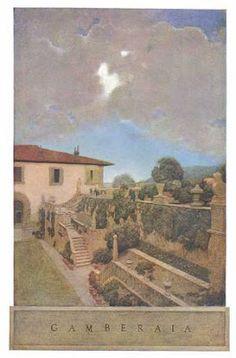 Maxfield Parrish w/Edith Wharton 'Italian Villas and the Gardens' Fad gardens of the 20's