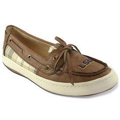 Women's Campus Cruzerz Westwind LSU Tigers Boat Shoes, Size: 11, Brown