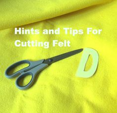 Melinda'sCreative Wishes: Sewing With Felt Part 2 - Cutting Felt