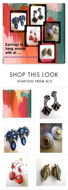 """""""Earrings to hang around with at..."""" by renaissance-fair ❤ liked on Polyvore featuring Oliver Gal Artist Co. and Givenchy"""