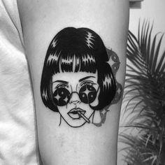 Mysterious Women in Illustrative Portrait Tattoos