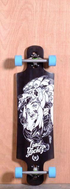 I love the blue wheels longboard