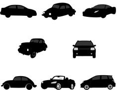 Free Car Silhouette Vector Graphics for print advertisement and ...